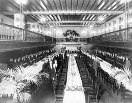 "[Druggist Convention in ""Oak Room"" banquet hall of second Hotel Vancouver]"