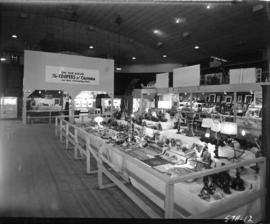 Exhibits in 1957 P.N.E. Hobby Show in Garden building