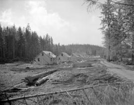 [Houses under construction in] Sandspit [on the] Queen Charlotte Islands