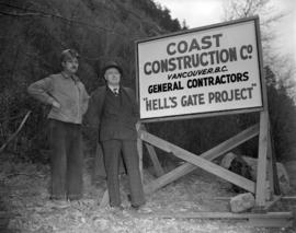 Mr. J. Collins and superintendant at Hell's Gate fish ladder construction