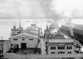 Union Steamship Co. office, dock and ships