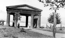 [Lumberman's Arch] The Bowie Arch, erected in memory of Captain George P. Bowie, killed in a...