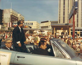 Yokohama Mayor I. Asukata in 1969 P.N.E. Opening Day Parade
