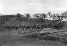 [Chinese Labour Battalion at William Head Quarantine Station en route to France]