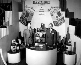 H.A. Stafford and Co. display of janitorial supplies and chemicals