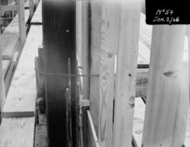 Powerhouse construction - detail of framing ties