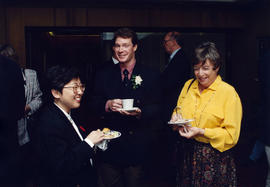 Maggie Ip, Ross Mcdonald and unidentified woman after civic recognition ceremony