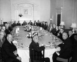 Round Table birthday luncheon for General Victor W. Odlum, table view