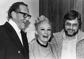 Hugh Pickett, Phyllis Diller and unidentified man
