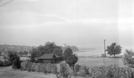 Kitsilano Beach from Major Matthews' residence, V-J Day