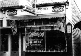 [Cathay Cafe] on Dunbar. [This is the site of the]  first home of Dunbar Evangelical Lutheran Chu...