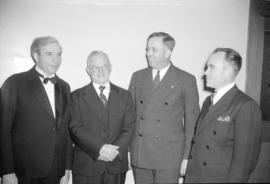 [Group portrait of Mr. Buchanan with three other men]