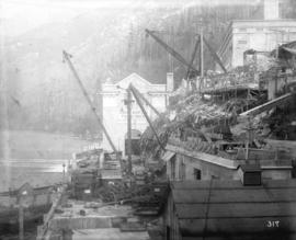 [Construction of Buntzen Lake Power Plant number one]