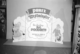 [Purex window display card for Westminster Paper Co.]