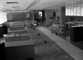 Construction of new office building: completed open office area
