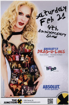 Absolut'ly drag-u-lous : Saturday, Feb. 21 : 4th anniversary show : The Junction