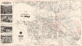 Map of Vancouver, Burnaby, New Westminster, British Columbia ; Points of interest in Vancouver, B...
