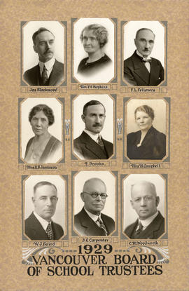 1929 Vancouver Board of School Trustess