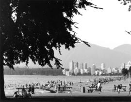 Kitsilano Beach [English Bay and West End in background]