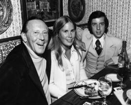 Branigan's Restaurant [Hugh Pickett and two unidentified people]