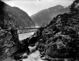 C.P.R. crossing Skuzzy River, Fraser Canyon