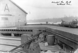 "Oriental Pier A.B. , Outboard End [Construction progress photograph of the CPR Pier ""A - B&q..."