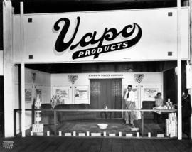 Crown Paint Co. display of Vapo cleaning products