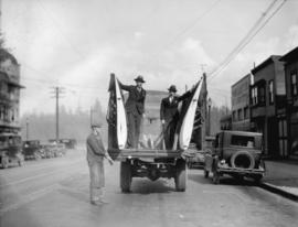 Boeing Aircraft Co. of Canada [wings loaded on truck, Georgia Street]