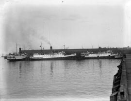 Union Steamship fleet at dock