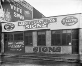 [Abbott and Castleton signs building]
