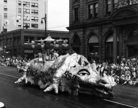 Chinese Community float in 1958 P.N.E. Opening Day Parade