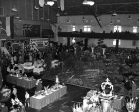 1953 P.N.E. Horticultural Show exhibits in Forum building