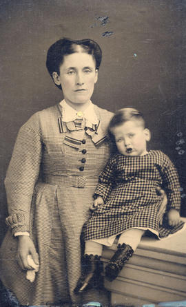 [Mrs. Abington Herbert Ridley and her first child]