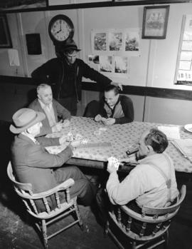 [Cribbage game at] Pacific Mills