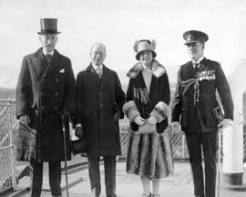 [Governor General Lord Willingdon, Mayor L.D. Taylor, Lady Willingdon and Col. H.S. Tobin during ...