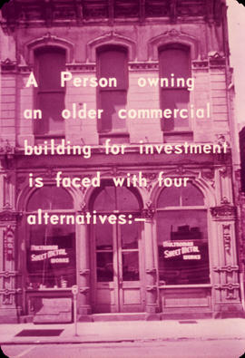 A Person owning an older commercial building is faced with 4 alternatives