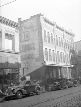 [Building at 133-139 Cordova Street, housing the International Hotel and the Savoy Restaurant]