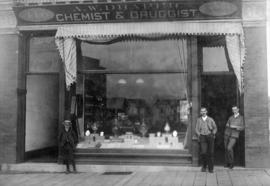 [Exterior of A.W. Draper Chemist and Druggist store at 416 (630) Granville Street]