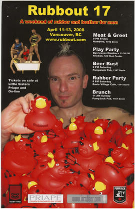 Rubbout 17 : a weekend of rubber and leather for men : April 11-13, 2008
