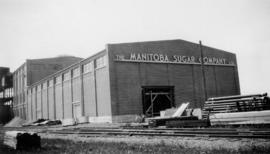 Finished plant [Manitoba Sugar Company factory] May 1939; Sugar warehouse June 1939