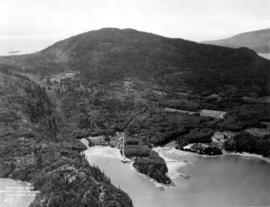 [Aerial view of Snug Cove, Deep Bay and Bowen Island]