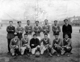 [Group photograph of Chinese Students' Athletic Association soccer team]