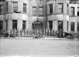 Military 72nd [Regiment band in front of] [Drill Hall, Beatty Street]