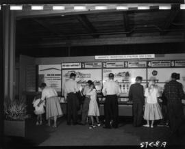 Sidney Roofing and Paper Co. display about asphalt shingles