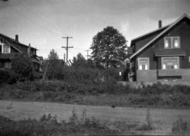 [Empty lot before construction of 1158 Arbutus Street - residence of Major Matthews]