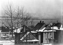 [View looking northeast from the residence of E.B. Herman at 1287 Robson Street]