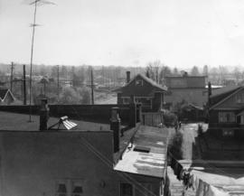 [View looking south from the 2100 block Arbutus Street]