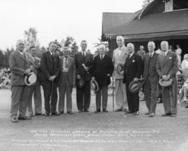 Old Time Cricketers gathered at Brockton Point, Vancouver, B.C. during Vancouver's Golden Ju...