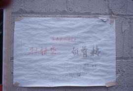 Poster in Chinatown