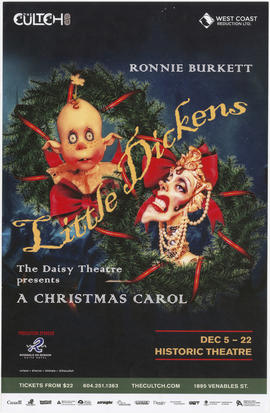 Ronnie Burkett little dickens : The Daisy Theatre presents A Christmas Carol : The Cultch : Dec. ...